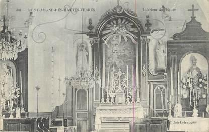 """CPA FRANCE 27 """" St Amand des Hautes Terres, Intérieur de l'église""""."""