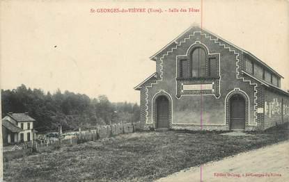"""CPA FRANCE 27 """" St Georges du Vièvre, Salle des fêtes""""."""