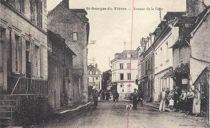 """CPA FRANCE 27 """" St Georges du Vièvre, Avenue de la gare""""."""