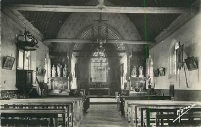 """CPSM FRANCE 27 """" Sebecourt, Intérieur de l'église""""."""
