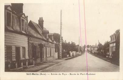 """CPA FRANCE 27 """" St Maclou, Route de Pont Audemer""""."""