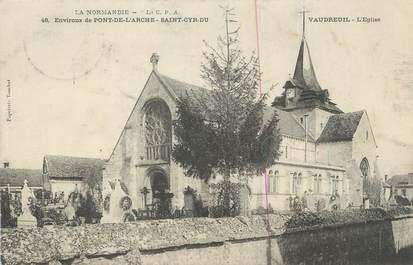 """CPA FRANCE 27 """" St Cyr du Vaudreuil, L'église""""."""