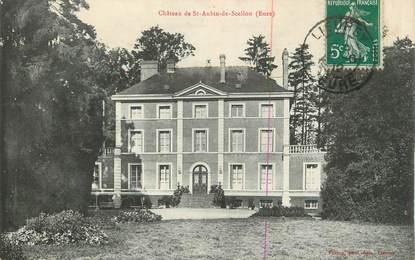 """CPA FRANCE 27 """" St Aubin de Scellon, Le château""""."""
