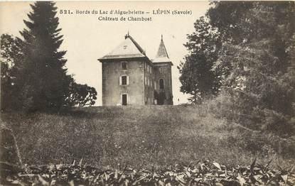"""CPA FRANCE 73 """"Bords du Lac d'Aiguebelette, Lépin, Chateau de Chambost"""""""