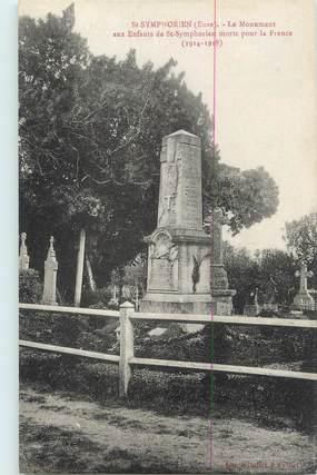 """CPA FRANCE 27 """" St Symphorien, Le monument aux morts""""."""