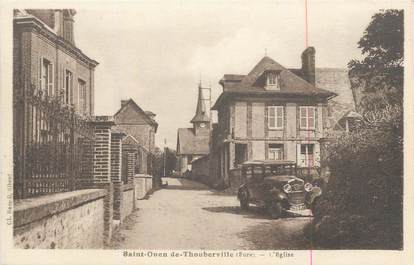 """CPA FRANCE 27 """" St Ouen de Thouberville, L'église""""."""