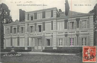 """CPA FRANCE 27 """" St Martin Etrépagny""""."""