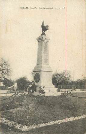 "CPA FRANCE 27 "" Selles, Le monument""."