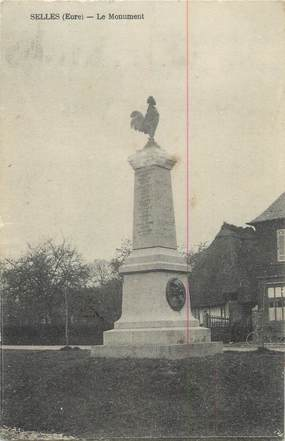 "CPA FRANCE 27 "" Selles, Le monument aux morts""."