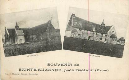 """CPA FRANCE 27 """" Ste Suzanne, Vues""""."""