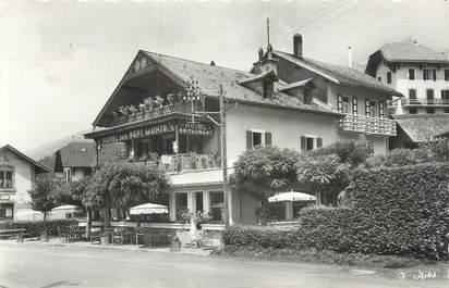 """CPSM FRANCE 74 """" Samoëns, Hôtel des Sept Monts""""."""