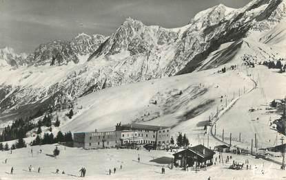 """CPSM FRANCE 74 """" St Gervais les Bains, Le Col de Voza, les Aiguilles de Chamonix""""."""