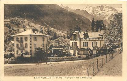 """CPA FRANCE 74 """" St Gervais les Bains, Pension des Bruyères""""."""