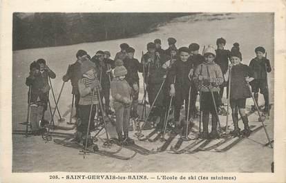 """CPA FRANCE 74 """" St Gervais les Bains, L'école de ski""""."""
