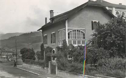 """CPSM FRANCE 74 """" Sallanches, Hôtel Pension les Chardons Bleus""""."""