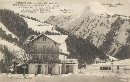"CPA FRANCE 74 "" Morzine, Hôtel Pension Restaurant du Rond Point""."
