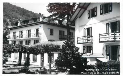 """CPSM FRANCE 74 """" Monnetier, Maison de repos La Savoyarde""""."""