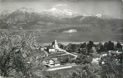 """CPSM FRANCE 74 """"Sevrier, Le Lac d'Annecy'."""