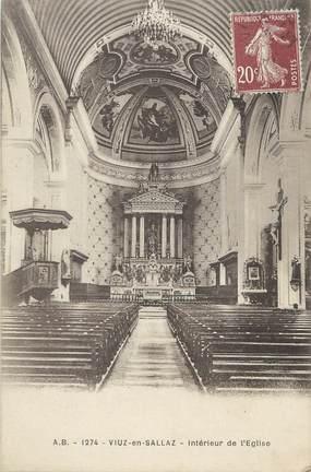 """CPA FRANCE 74 """"Viuz en Sallaz, Intérieur de l'église""""."""