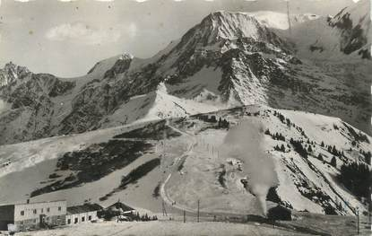 """CPSM FRANCE 74 """"Le Col de Voza, Le Mont Blanc""""."""