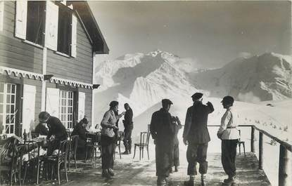 "CARTE PHOTO FRANCE 74 ""Le Col du Mont d'Arbois"". / ALPINISME"