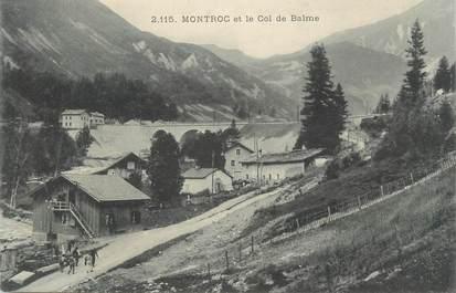 """CPA FRANCE 74 """"Montroc, Le Col de Balme""""."""