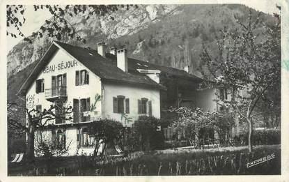 """CPSM FRANCE 74 """"Menthon St Bernard, Hôtel Beau Séjour""""."""