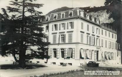 """CPSM FRANCE 74 """"Le Pas de l'Echelle, Bois Salève Centre de la SNCF""""."""