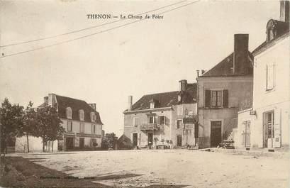 """CPA FRANCE 24 """" Thenon, Le champ de foire""""."""