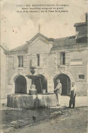"""CPA FRANCE 24 """" Bussières - Badil, Bassin monolithe en granit""""."""