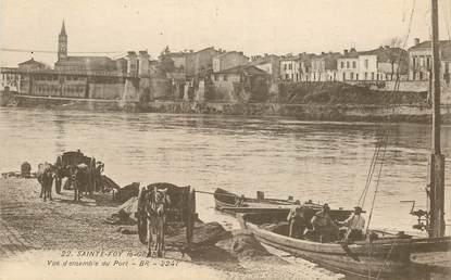 """CPA FRANCE 33 """"Sainte Foy la Grande, vue d'ensemble du port"""""""