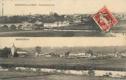 """CPA FRANCE 24 """" Montpon sur l'Isle et Menestrol'""""."""