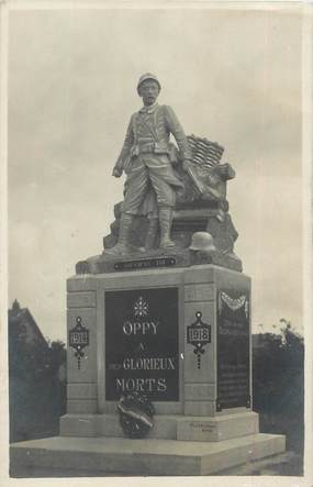 """CPA FRANCE 62 """" Oppy, Le monument aux morts'."""