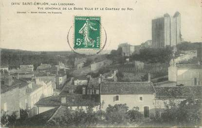 """CPA FRANCE 33 """"Saint Emilion, près Libourne, vue générale de la basse ville"""""""
