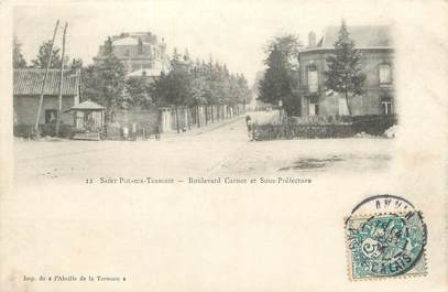 """CPA FRANCE 62 """" St Pol, Boulevard Carnot et Sous Préfecture""""."""