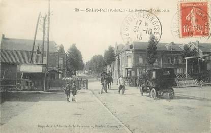 "CPA FRANCE 62 "" St Pol, Boulevard Gambetta""."