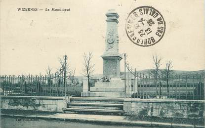 "CPA FRANCE 62 "" Wizernes, Le monument aux morts""."