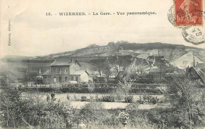 """CPA FRANCE 62 """" Wizernes, La gare, vue panoramique""""."""
