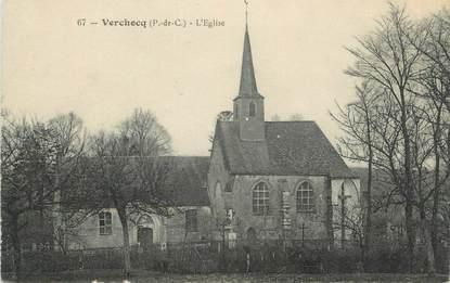 """CPA FRANCE 62 """"Verchocq, L'église"""";"""