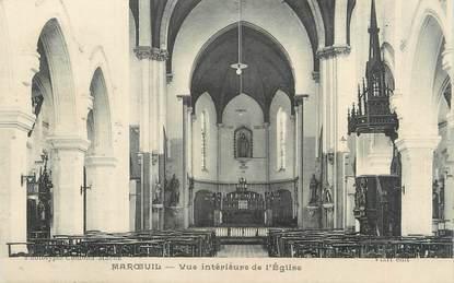 """CPA FRANCE 62 """"Maroeuil, Vue intérieure de l'église""""."""
