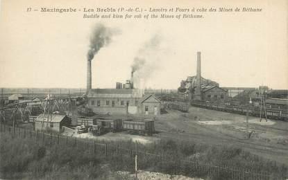 """CPA FRANCE 62 """"Mazingarbe - Les Brebis, Lavoirs et fours à coke des mines de Béthune""""."""