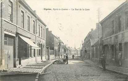 """CPA FRANCE 62 """" Oignies, La rue de la gare""""."""