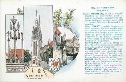 """CPA FRANCE 29 """" Quimper, Vues""""."""