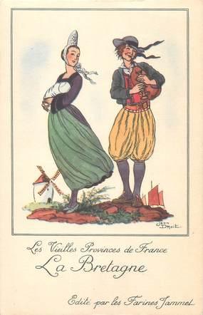 """CPA FRANCE 29 """" La Bretagne, Publicité Farines Jammet""""."""