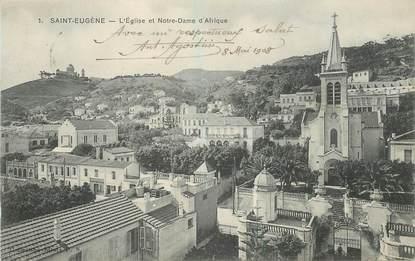 """CPA ALGERIE """"Alger, Saint Eugène, L'Eglise et Notre Dame d'Afrique"""""""