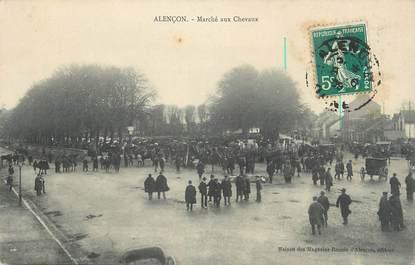 """CPA FRANCE 61 """" Alençon, Marché aux chevaux""""."""