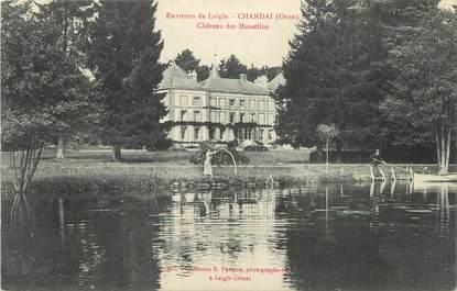 "CPA FRANCE 61 "" Chandai, Château des Masselins""."
