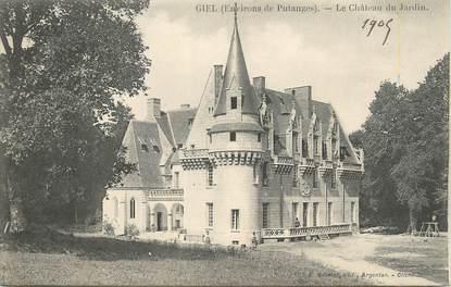 """CPA FRANCE 61 """" Giel, Le château du jardin""""."""