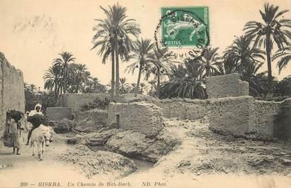 "CPA ALGERIE ""Biskra, un chemin de Bab Darb"""