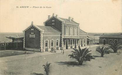 "CPA ALGERIE ""Arzew, place de la gare"""